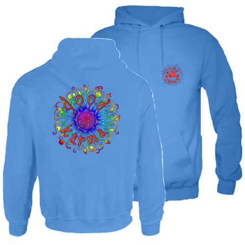 Peace Frogs Good Karma Printed Adult Hooded Pullover Sweatshirt
