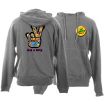 Peace Frogs Get A Grip Printed Adult Hooded Pullover Sweatshirt