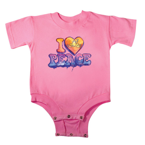 Peace Frogs I Heart Peace Frogs Onesie