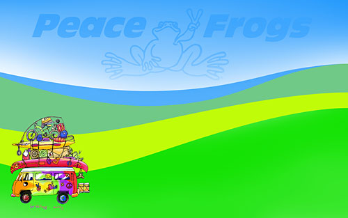 """Braking Away"" - Peace Frogs Free Wallpaper Download"
