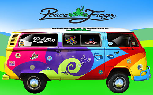 """On the Bus"" - Peace Frogs Free Wallpaper Download"