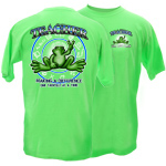 Peace Frogs Adult Teacher Short Sleeve T-Shirt