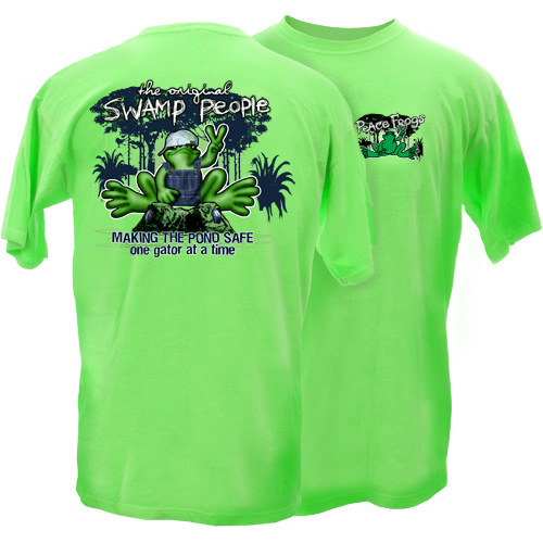 Peace Frogs Adult Swamp People Short Sleeve T-Shirt