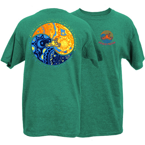 Peace Frogs Adult Sun Moon Ying Yang Short Sleeve T-Shirt