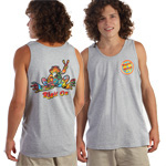 Peace Frogs Button Adult Tank Top T-Shirt