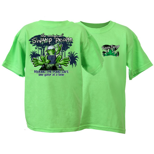 Peace Frogs Swamp People Short Sleeve Kids T-Shirt