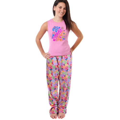Peace Frogs Adult Peace Signs Pajama Loungepant Lounge