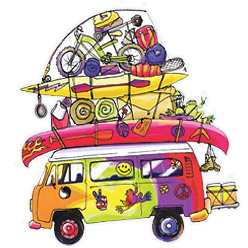 Peace Frogs Loaded Van Sticker