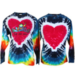 Peace Frogs Heart Tie Dye Adult Long Sleeve T-Shirt