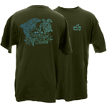 Peace Frogs Adult Give Seas A Chance Short Sleeve T-Shirt