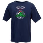 Peace Frogs Adult Peace Frogs on Earth Short Sleeve T-Shirt