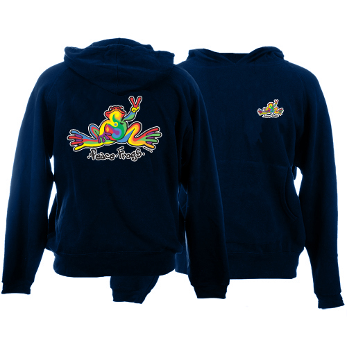 Peace Frogs Retro Printed Kids Hooded Pullover Sweatshirt
