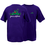 Peace Frogs Valentine's Day Frog Short Sleeve T-Shirt