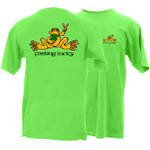 Peace Frogs Feeling Lucky Frog Short Sleeve T-Shirt