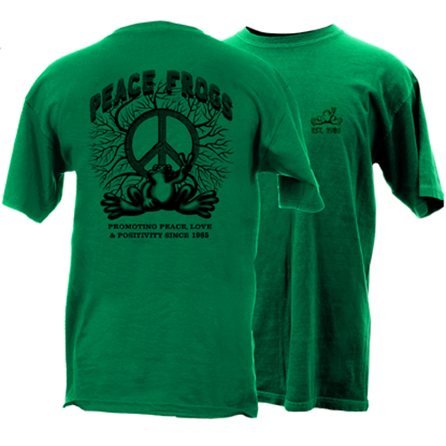 Peace Frogs Promoting Peace Short Sleeve T-Shirt