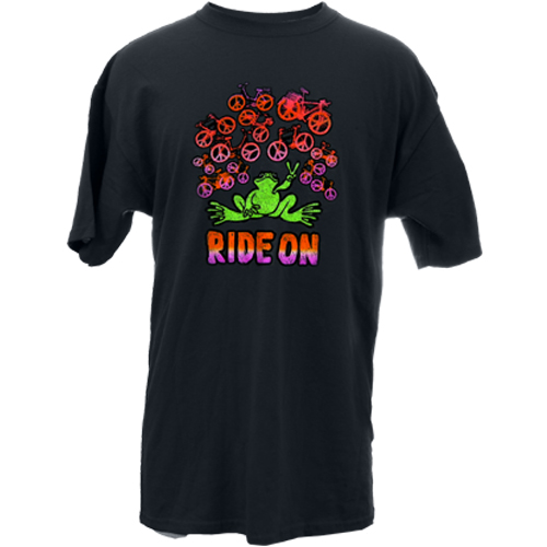 Peace Frogs Ride On Frog Short Sleeve T-Shirt