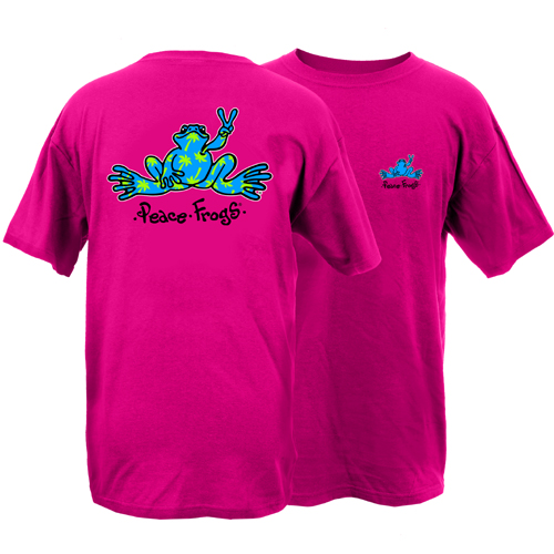 Peace Frogs Palm Tree Frog Short Sleeve T-Shirt