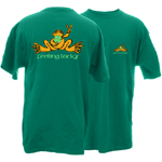 Peace Frogs Adult St. Patrick's Day Frog Short Sleeve T-Shirt