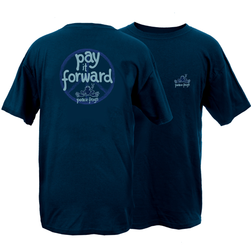Peace Frogs Adult Pay It Forward Short Sleeve T-Shirt