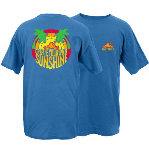 Peace Frogs Create Your Own Sunshine Garment Dye Short Sleeve T-Shirt
