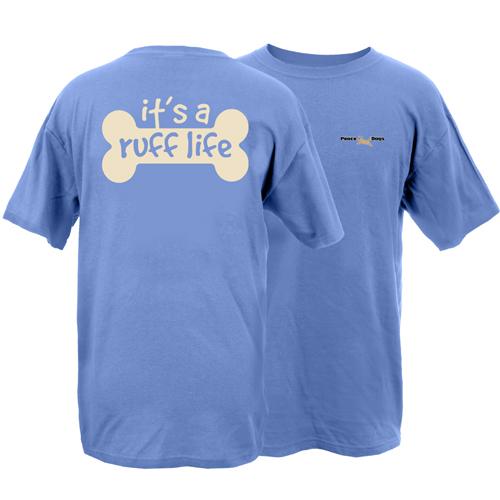 Ruff Life Peace Dogs Short Sleeve Garment Dye T-Shirt