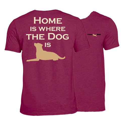 Home Dog Peace Dogs Short Sleeve Garment Dye T-Shirt