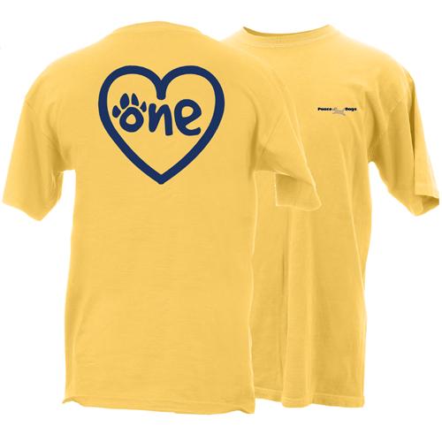 One Love Peace Dogs Short Sleeve Garment Dye T-Shirt