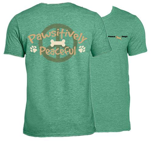 Pawsitively Peaceful Peace Dogs Short Sleeve Garment Dye T-Shirt