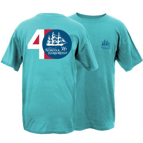 Harborfest 40th Anniversary Garment Dye Short Sleeve T-Shirt