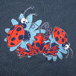 Peace Frogs Junior Ladybug Footbll Jersey Long Sleeve T-Shirt