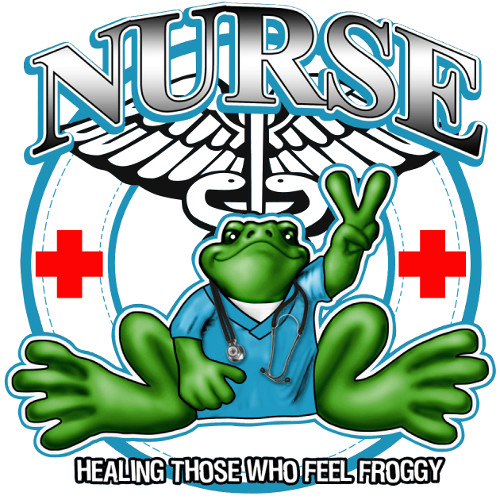 Peace Frogs Nurse Frog Sticker