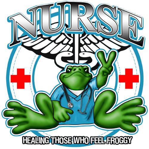 Peace Frogs Nurse Frog Sticker