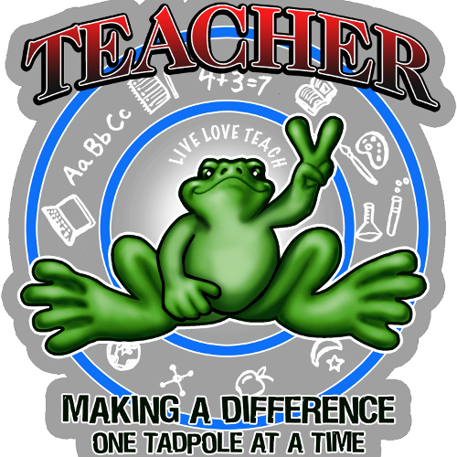 Peace Frogs Teacher Frog Sticker