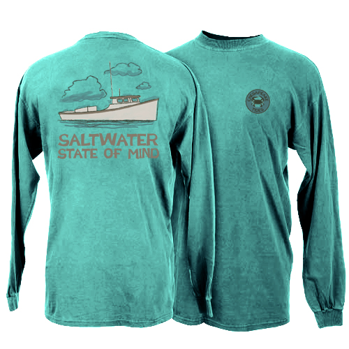 Chesapeake Tides Adult State of Mind Garment Dye Long Sleeve T-Shirt