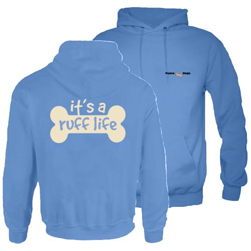 Ruff Life Peace Dog Hood Pullover Sweatshirt