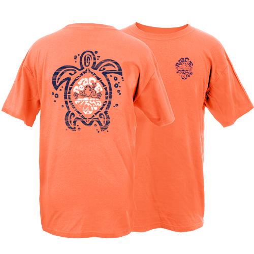 Peace Frogs Sea Turtle Frog Garment Dye Short Sleeve T-Shirt