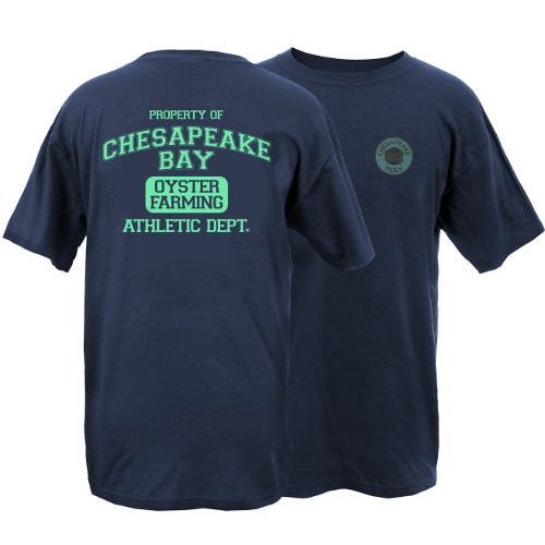 Chesapeake Tides Oyster Farming Garment Dye Short Sleeve T-Shirt