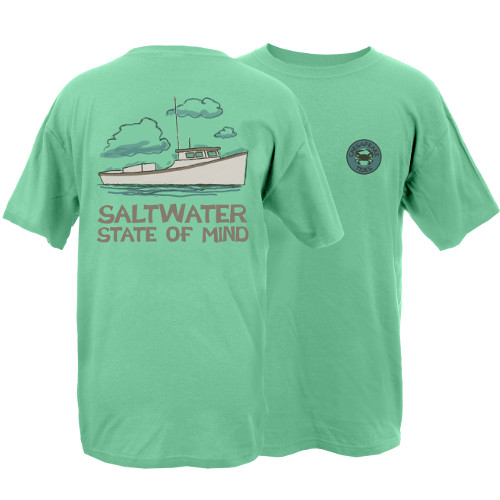 Chesapeake Tides Saltwater State of Mind Garment Dye Short Sleeve T-Shirt