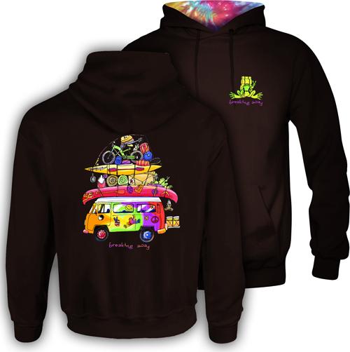 Peace Frogs Loaded Van Hood Lined Adult Pullover Sweatshirt