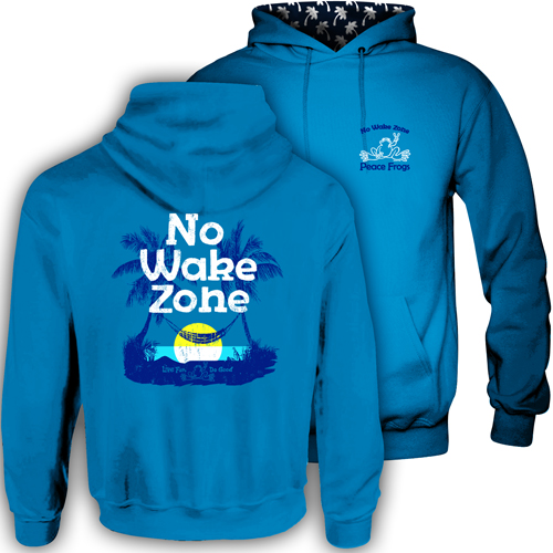 Peace Frogs No Wake Hood Lined Adult Pullover Sweatshirt