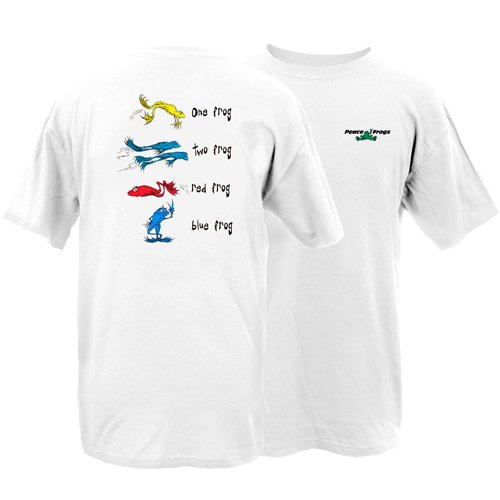 Peace Frogs Adult One Frog Short Sleeve T-Shirt