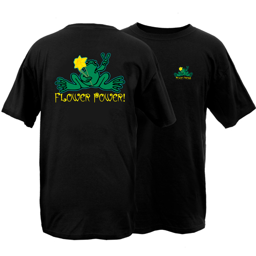 Peace Frogs Flower Power Frog Short Sleeve T-Shirt