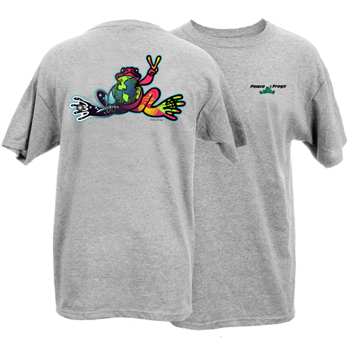 Peace Frogs Adult Increase the Peace Frog Short Sleeve T-Shirt