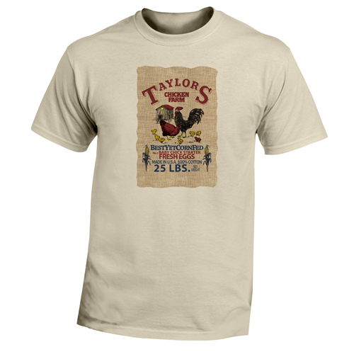 Beyond The Pond Adult Taylors Chicken Farm Short Sleeve T-Shirt
