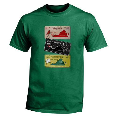 Beyond The Pond Adult Virginia Plates Short Sleeve T-Shirt