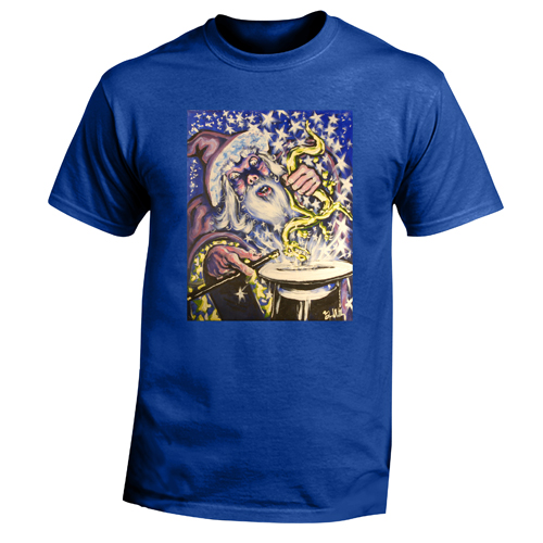 Beyond The Pond Adult Magician Wizard Short Sleeve T-Shirt