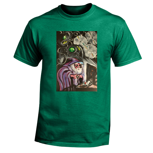 Beyond The Pond Adult Gamer Wizard Short Sleeve T-Shirt