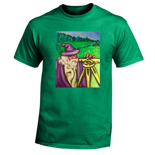 Beyond The Pond Adult Surveyor Wizard Short Sleeve T-Shirt