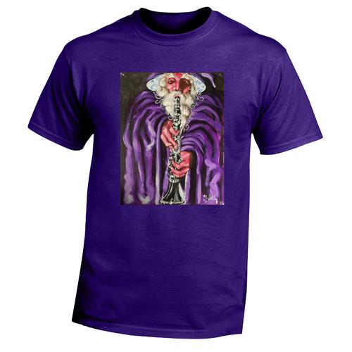 Beyond The Pond Adult Clarnet Player Wizard Short Sleeve T-Shirt
