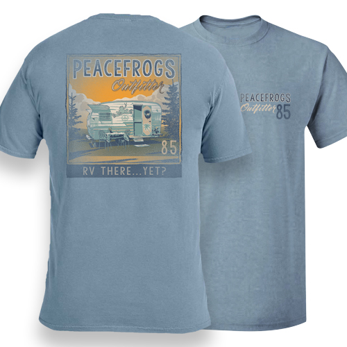 Peace Frogs Adult RV There Yet Frog Short Sleeve T-Shirt